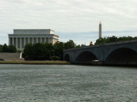 Monuments seen from the Potomac River