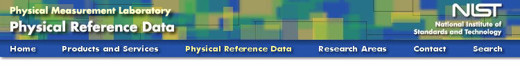 Physical Reference Data